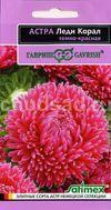 Астра Леди Корал темно-красная, розовидная Image