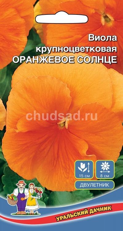 Цветы Виола крупноцветковая Оранжевое солнце Image